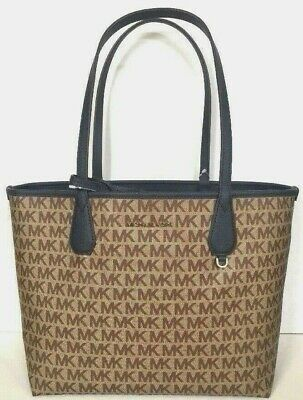 60d2204dbc5b New Michael Kors Candy Large Reversible Tote in Signature PVC Beige / Navy