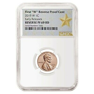 2019 W Reverse Proof Lincoln Penny Cent Comm. NGC PF 69 ER (Star Label)