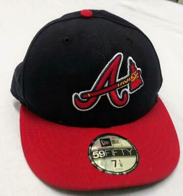 30bd304bd7cc58 New Era Atlanta Braves Home Fitted Baseball Hat On-Field Cap Size 7 1/