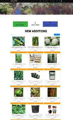 Gardening Supplies Website Home Business - Domain - Hosting Fully Stocked