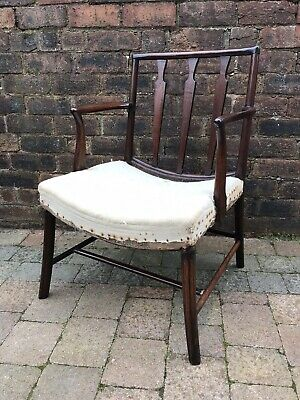 18th Century Mahogany Former Cockpen Carver Chippendale Armchair c1780 Needs TLC