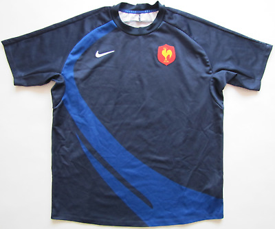 5a51f81ea France FFR 2008 2009 Nike rugby union navy blue maillot shirt jersey mens XL