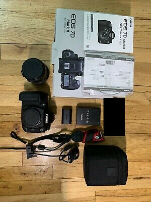 Canon EOS 7D Mark II DSLR -USED/GREAT COND W/ SIGMA LENS 17-50 2.8 25600 SHUTTER