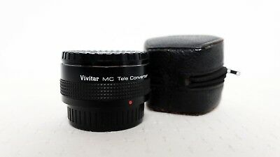 Vintage VIVITAR MC 2x Teleconverter for Pentax K PK-A R-PK fit with caps