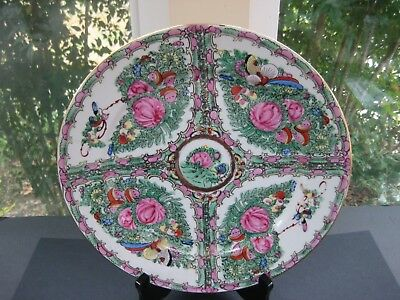 """Vintage Japanese Porcelain Ware Acf 12 """" Plate Hand Decorated In Hong Kong"""