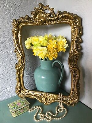 Exquisite Vintage Rococo/Baroque Gold/Gilt French Plaster Picture Frame #5467