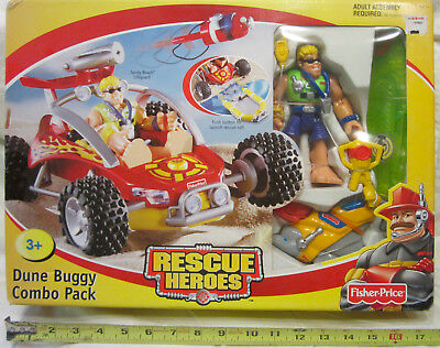 Rescue Heroes - Dune Buggy with Lifegurd Sandy Beach Action Figure