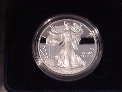 American Eagle 2013 Silver Proof 1 oz coin mint in box with COA
