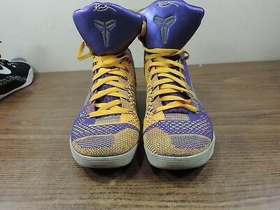detailed look 5b8f4 4600e Nike Kobe Ix 9 Elite Team Lakers Showtime 630847-500 Us 11 Size
