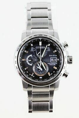 Pre-Owned Citizen Eco-Drive Men's AT9070-51L Atomic Blue Dial Watch