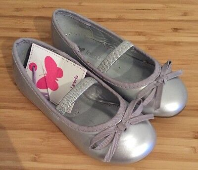 New John Lewis Girl Silver Ballerina Style Shoes, Size 7, RRP £15