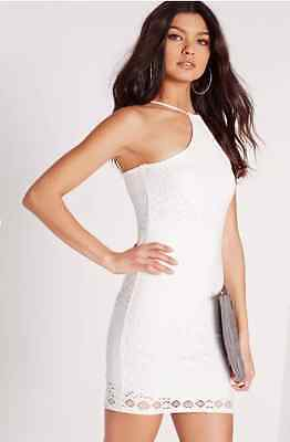 Missguided Laser Cut Detail Bodycon Dress in White camg99.1