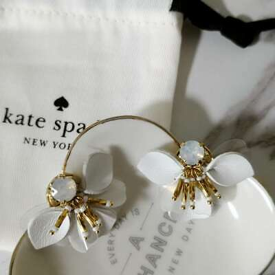 224d82e2f85a6 KATE SPADE VIBRANT Life Floral Earrings Light Green Multicolor With ...