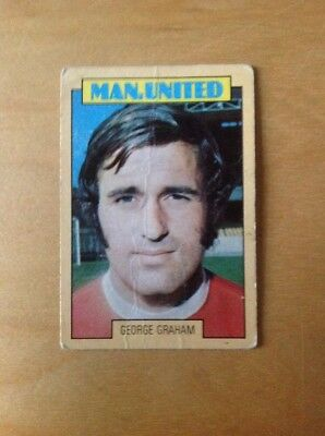 George Graham No.127. A&BC 1973/74 Blue back Football Card. Manchester United