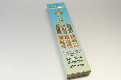 Holyland certified Candles from the Holy Cities of Jerusalem Bethlehem Nazareth