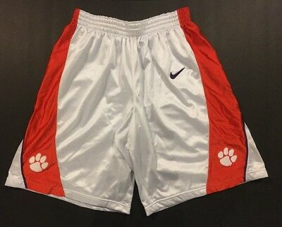 5b8e96509db7 🏀Clemson Tigers Authentic Team Issued Pro Cut PE Nike Basketball Shorts  Home