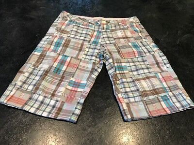 NEW AEROPOSTALE Yarn-dyed Womens Green /& Blue Plaid Shorts Size 5