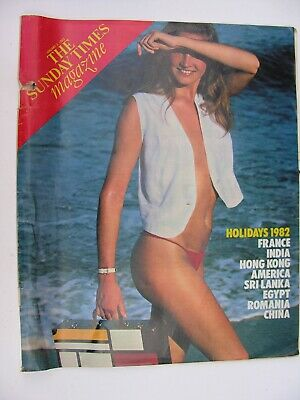SUNDAY TIMES January 3 1982 Holiday Special France Goa India Hong Kong Camping