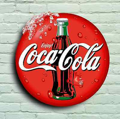 Large 2Ft Coca Cola Logo Sign Retro Picture Bar Pub Cafe Usa Catering Logo