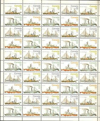 "776-779 14¢ ""Ships"" Full Sheet of 50 with varieties VFNH No Plates"