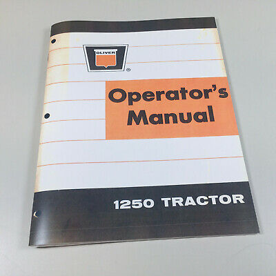 OLIVER 88 TRACTOR Owners Operators Manual Standard & Row Crop ... on