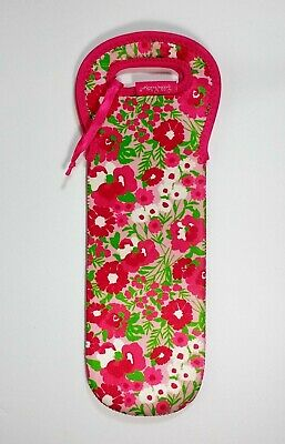 Lilly Pulitzer WINE TOTE Insulated Neoprene Bottle Bag Koozie GARDEN BY SEA