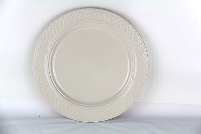 """Homer Laughlin China 33800S Gothic 9.75"""" Luncheon Plate Lattice Pattern (P14)"""