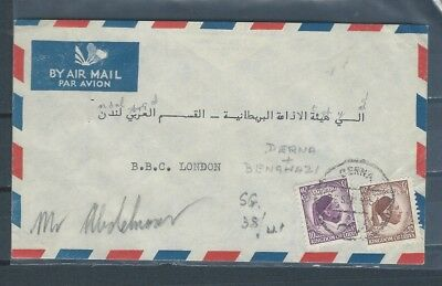 Middle East  - Italian Colonies - Libya early 1950s cover to the UK