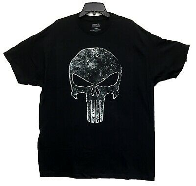 The Punisher Red Logo Marvel Comics Licensed Tee Adult T-Shirt S-2XL