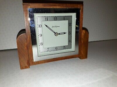 ANTIQUE VINTAGE  ART DECO JOHN D FRANCIS MANTLE CLOCK. Works for a short time.