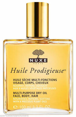 Nuxe HUILE PRODIGIEUSE Multi Purpose Dry Oil For Face/Body/Hair 100ml: FULL SIZE