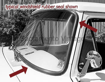 Ford truck front windshield rubber seal glass gasket USA 1953 1954 1955 pickup