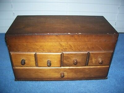 Vintage Japanese Wooden Chest Haribako Sewing Box 5 Drawers by Style House Japan