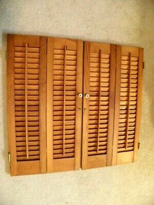 "VINTAGE INTERIOR WINDOW SHUTTERS LOUVERED 22.9/16"" wide X 31 1/8H"