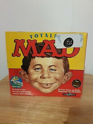 Ultra rare Totally Mad Cd Rom 500 Issues Magazine In Box With Toilet Roll