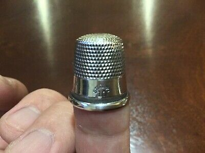 Vintage Sterling Silver Thimble Size #10