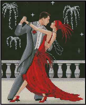 Art Deco Couple Happy New Year! Counted Cross Stitch COMPLETE KIT No.24-123
