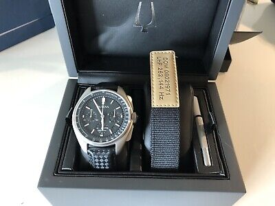 Bulova Special Edition Moon Apollo Lunar Pilot Chronograph Black Dial Men's