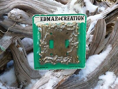 Vintage Edmar Ornate Floral Light Switch Plate Cover New in Sealed Package