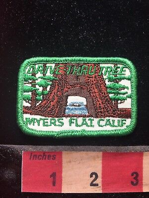 Vtg Redwood Patch DRIVE THRU TREE MYERS FLAT CALFORNIA - Tourist Attraction 76V3