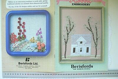 "RIBBON EMBROIDERY ""the Ribbon People"" by Berisfords 15 Designs 20 Pages CrRibbon"