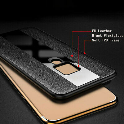 Ultra Thin PU Leather Tempered Glass Case Shell For Huawei P30 Pro P30 P30 Lite
