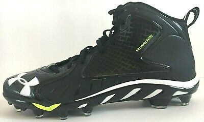 NEW UNDER ARMOUR UA SPINE Fierce MC-B Black Football Cleats 1258021-001 Size 13