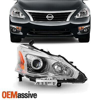 Fits 2013-2015 Altima 4DR Sedan Passenger Side Projector Headlights Replacement