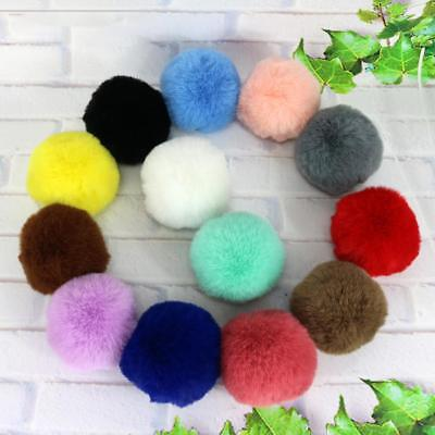 Chic 8CM DIY Cute Faux Rabbit Fur Pom Pom Ball Pompoms Knitting Hat Accessories