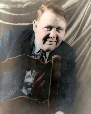 "CHARLES LAUGHTON HOLLYWOOD ACTOR WRITER PRODUCER 8x10"" COLOR HAND TINTED PHOTO"