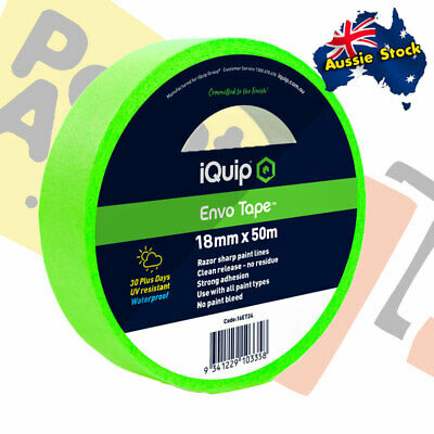 iQuip 30-day ENVO Masking Tape 18mm x 50m UV Resistant, Waterproof - FREE POST!
