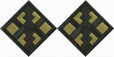 2 Pack US Army 411th Engineer Brigade OCP Scorpion Hook Back Military Patches