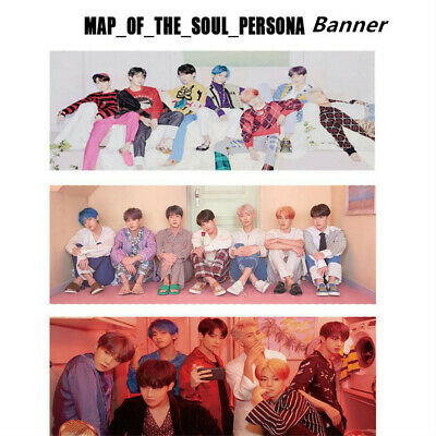 Kpop BTS Map of The Soul: Persona Support Fabric Banner New Album Hang up Poster