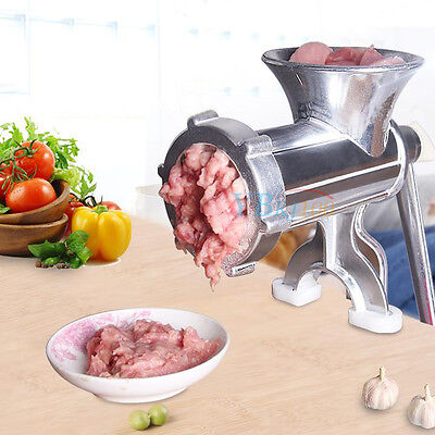 Hand Operate Manual Meat Grinder Sausage Beef Mincer Maker Table Kitchen Tool